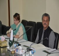 NPO 2013 Presentation with Minister for Industries and Production Division Mr. Ghulam Murtaza Khan Jatoi